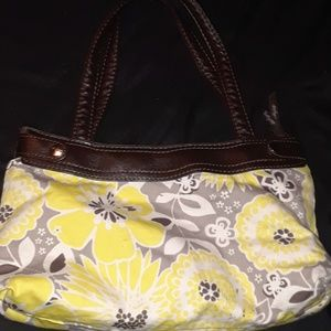 Yellow Floral Purse